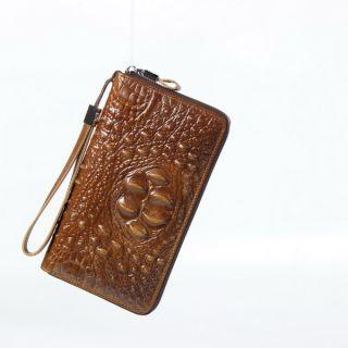 男式鳄鱼纹时尚商务手包