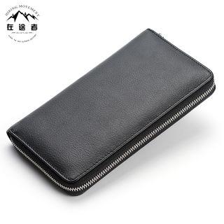 男士简约风格头层真皮钱包 商务多功能男士手抓包